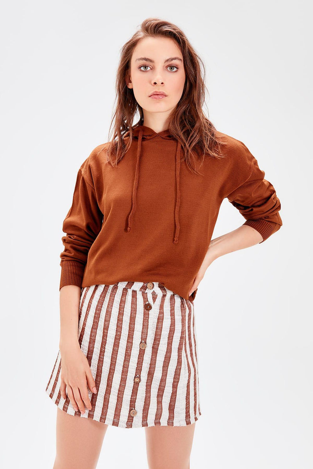 Miss Zut Miss Zut Brown Knitted Skirt Miss Zut &CO