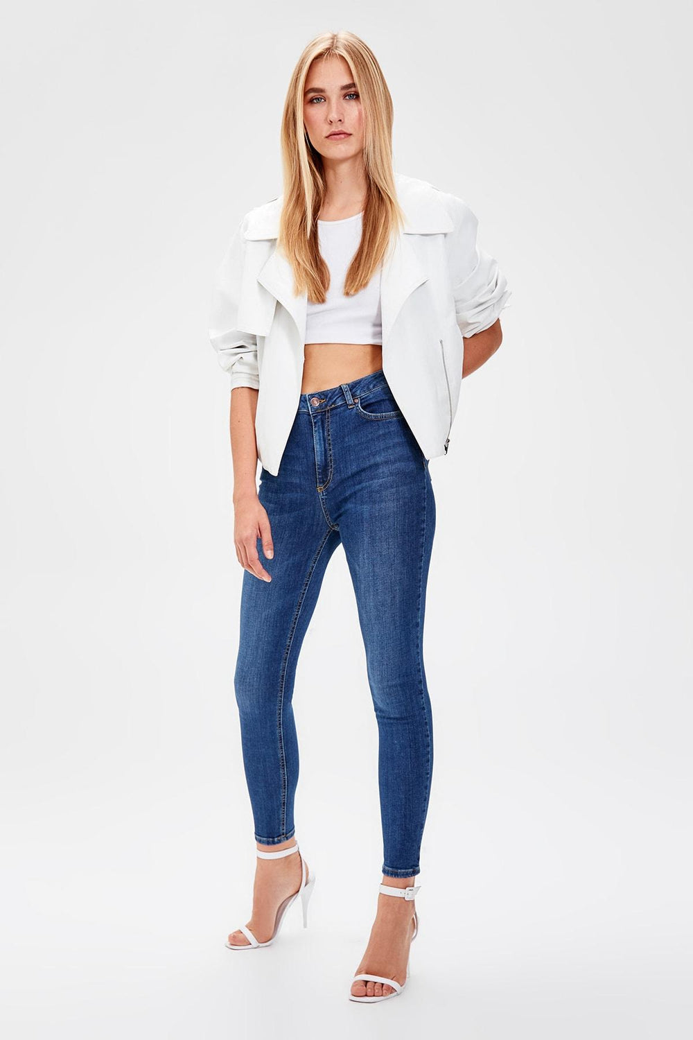 Miss Zut Miss Zut Blue High Waist Skinny Jeans Miss Zut &CO