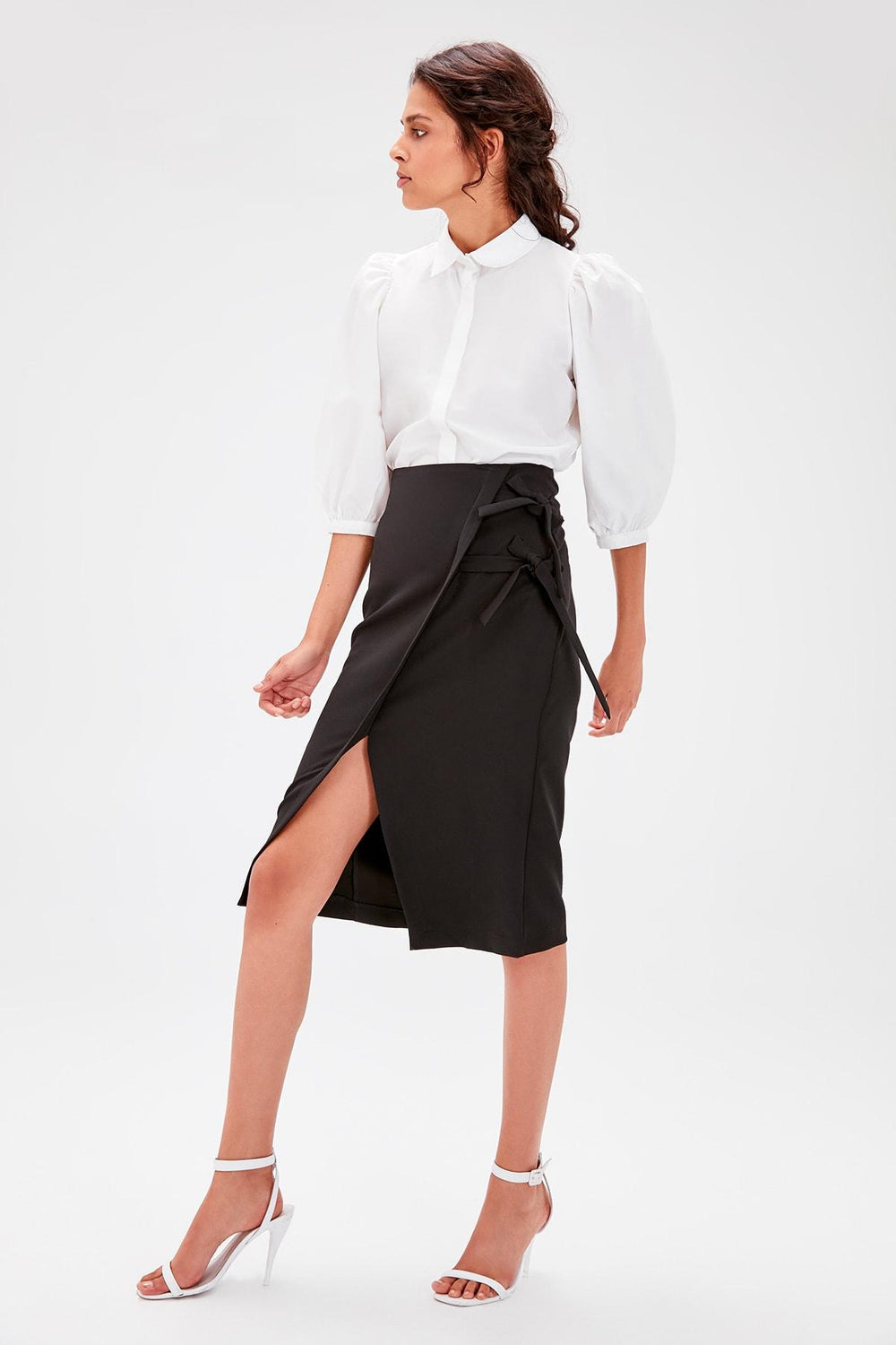 Miss Zut Miss Zut Black Lacing Detaylu0131 Skirt Miss Zut &CO