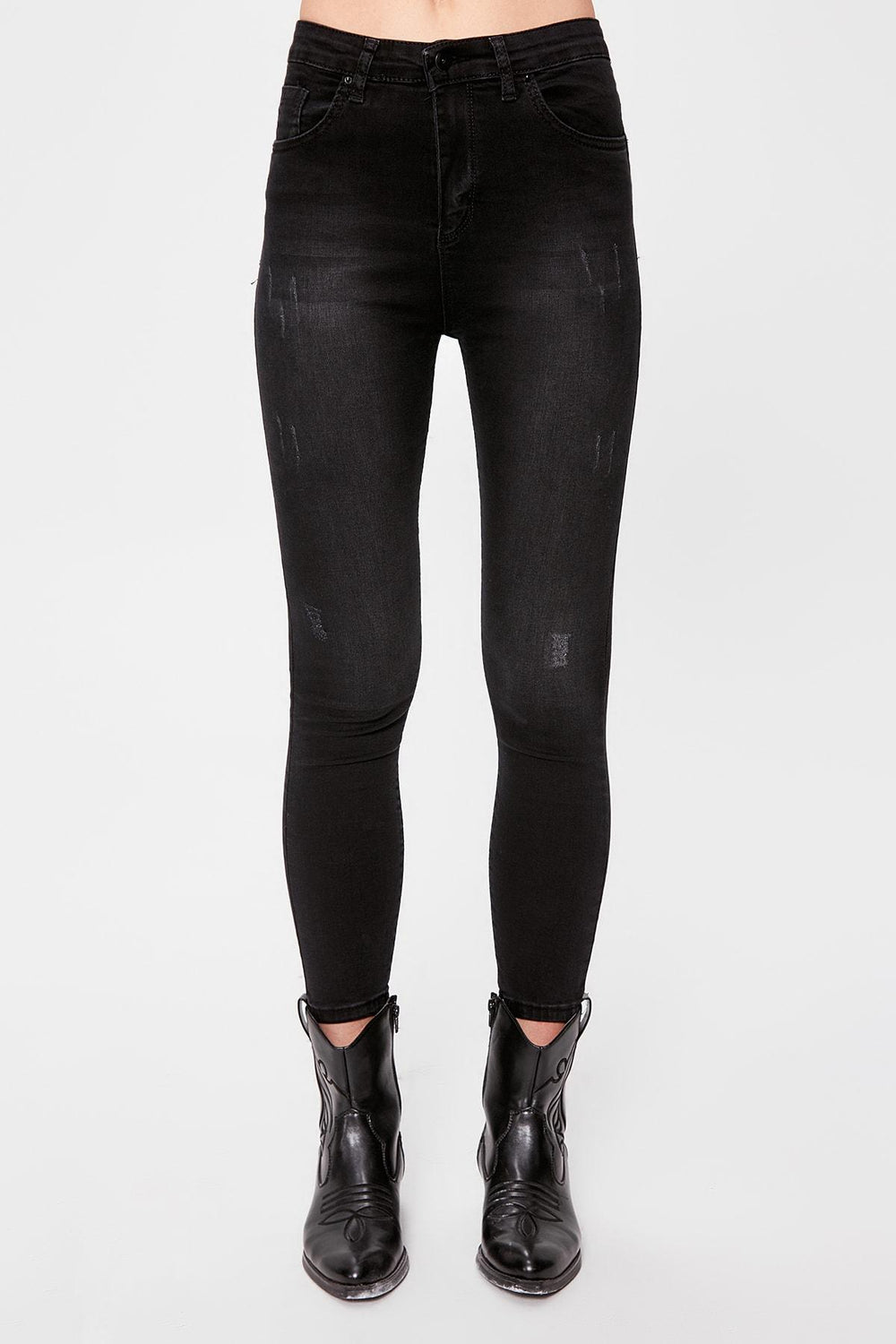 Miss Zut Miss Zut Black Yu0131pratmalu0131 Normal Waist Skinny Jeans Miss Zut &CO