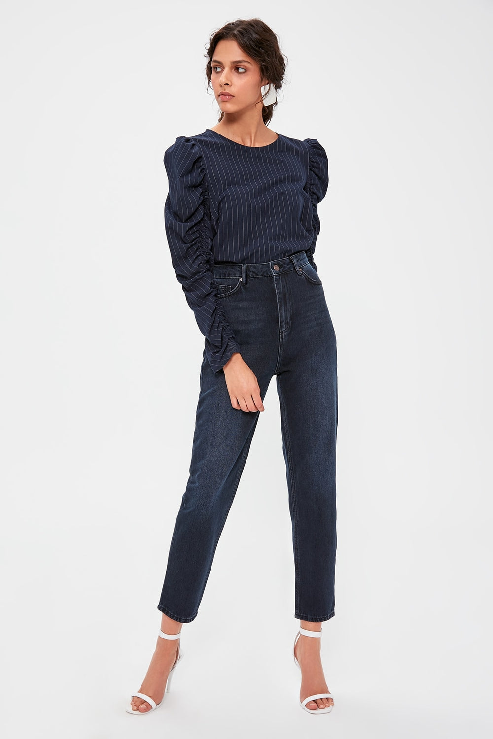 Miss Zut Miss Zut Dark Blue High Waist Mom Jeans Miss Zut &CO