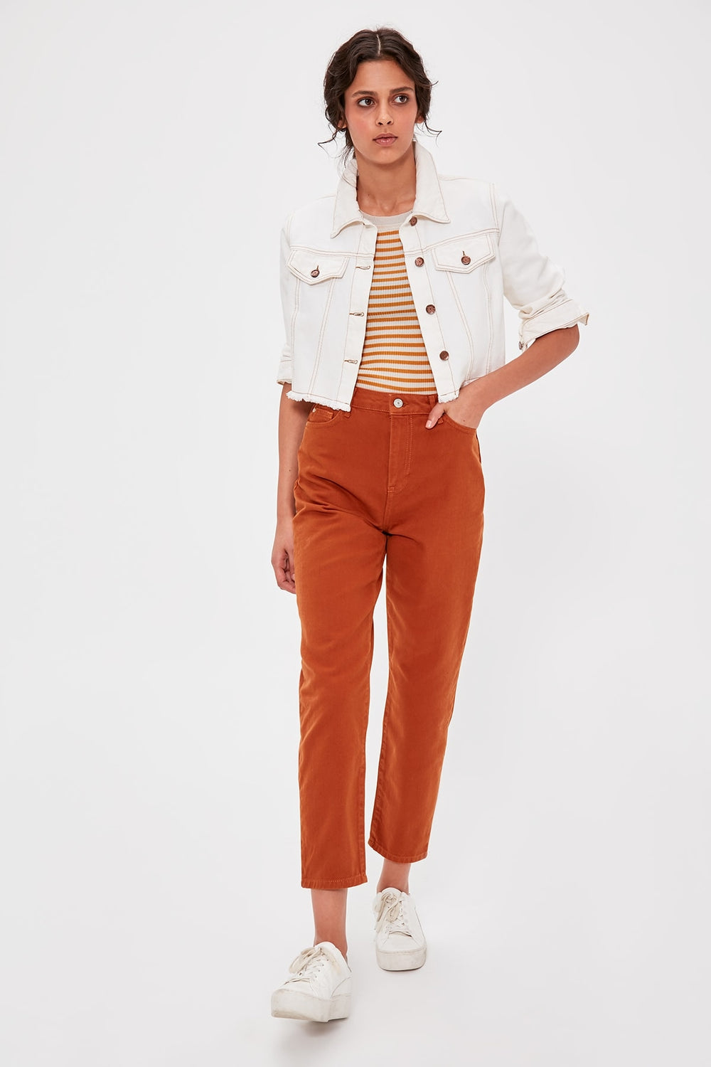 Miss Zut Miss Zut Camel High Bel Mom Jeans Miss Zut &CO