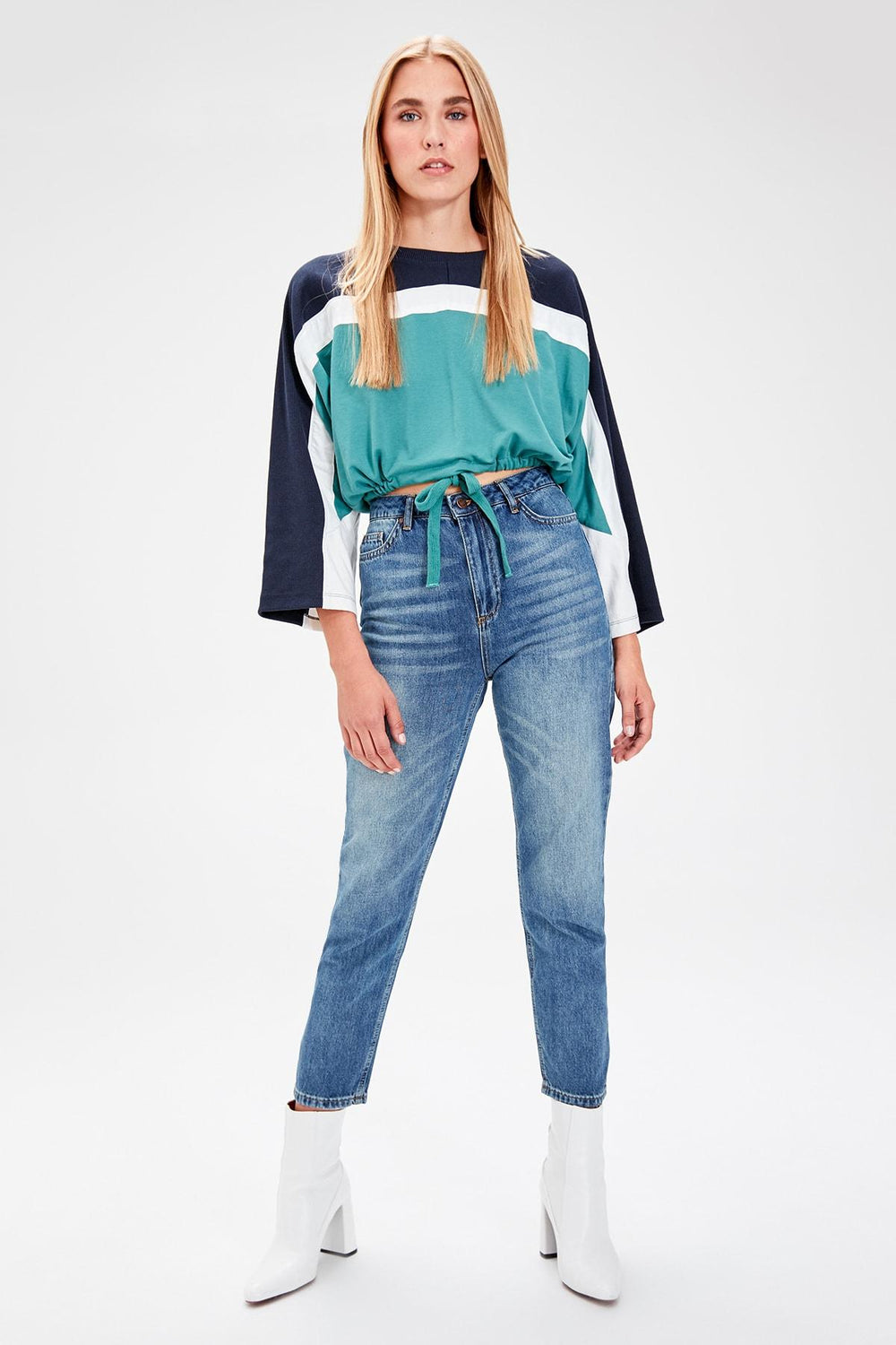 Miss Zut Miss Zut Blue High Waist Mom Jeans Miss Zut &CO