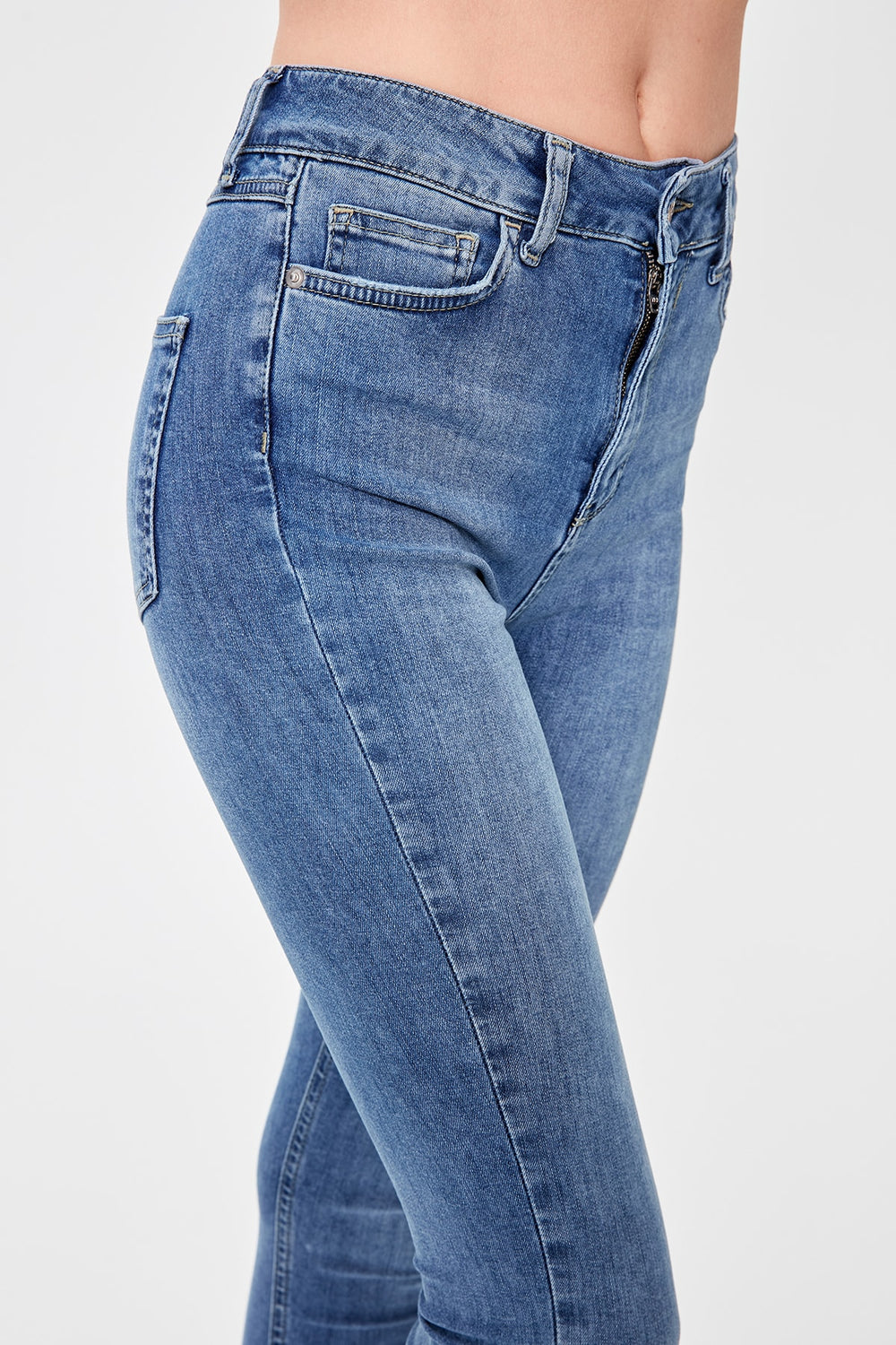 Miss Zut Miss Zut Blue Normal Waist Skinny Jeans Miss Zut &CO
