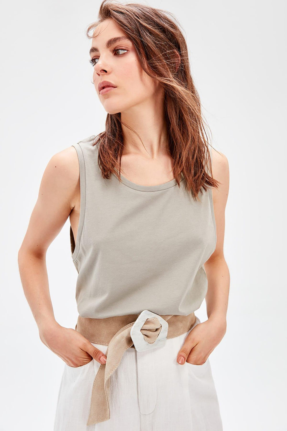 Miss Zut Miss Zut Khaki Knitted Undershirt Miss Zut &CO