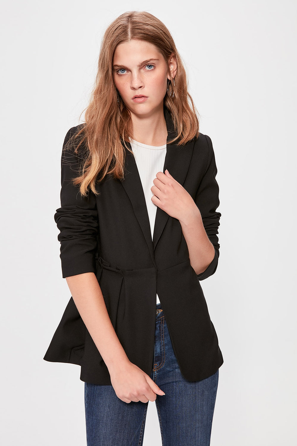 Miss Zut Miss Zut Black Jacket with Ruffle Detail Jacket Miss Zut &CO