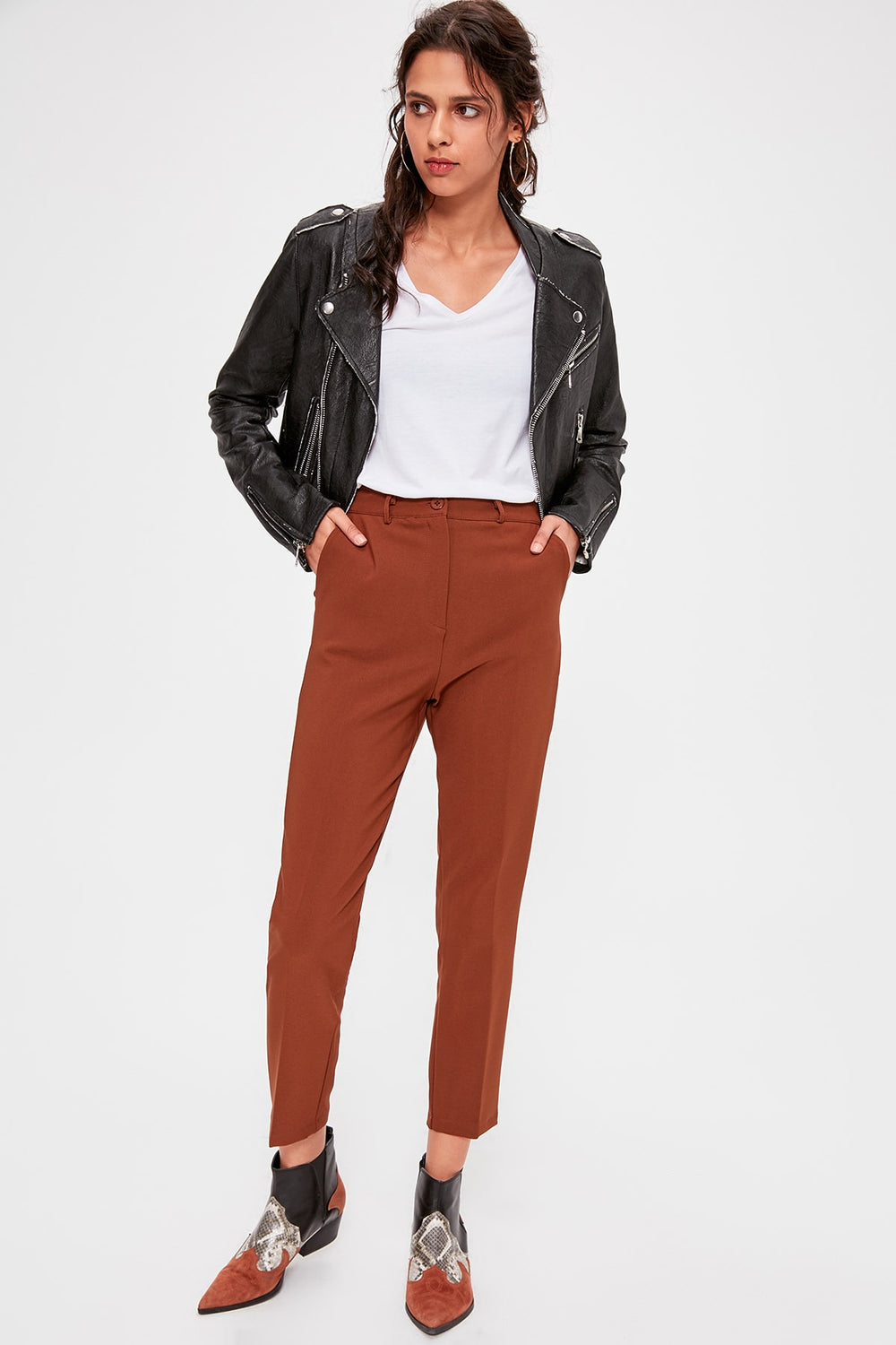 Miss Zut Miss Zut Brown Basic Pants Miss Zut &CO
