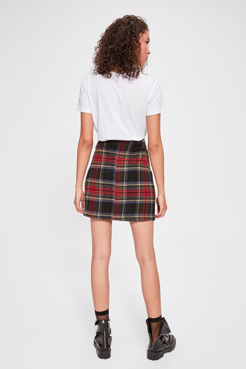 Miss Zut Miss Zut Gray Plaid Skirt Miss Zut &CO