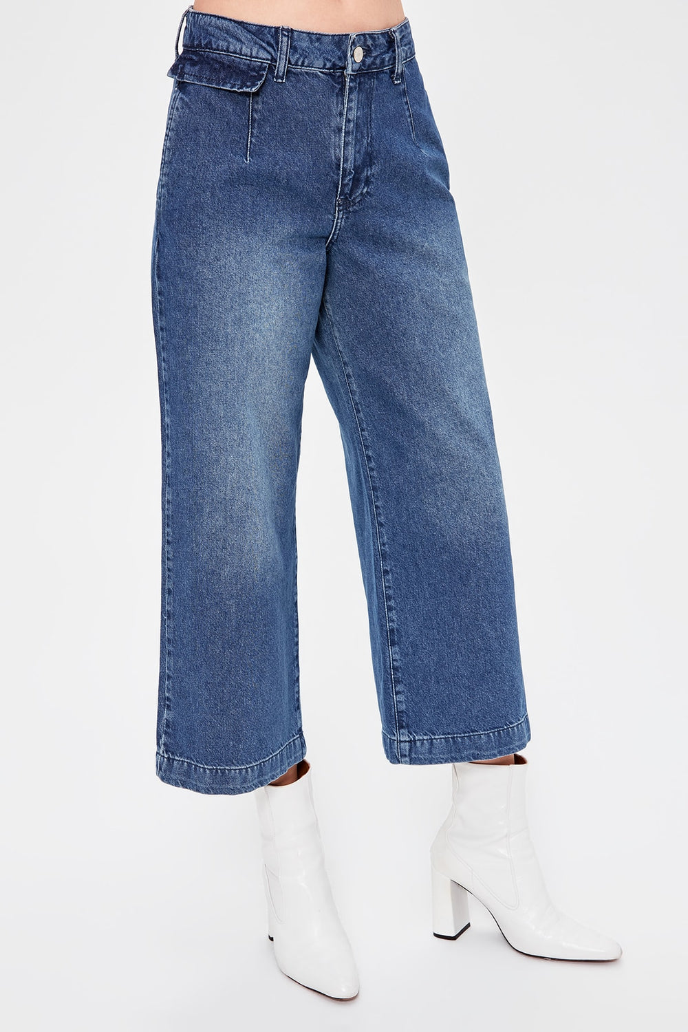 Miss Zut Miss Zut Blue High Waist Culotte Jeans Miss Zut &CO