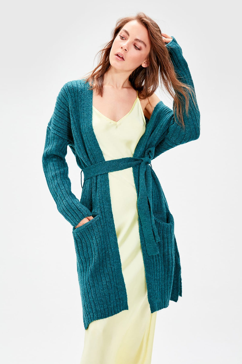 Miss Zut Miss Zut WOMEN-Oil Belted Sweater Cardigan Miss Zut &CO
