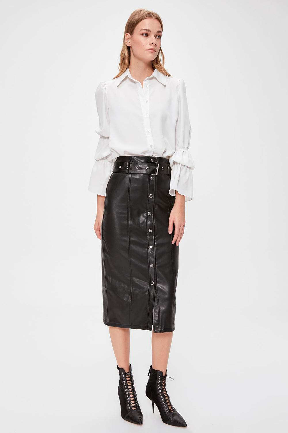 Miss Zut Miss Zut Leather Skirt Miss Zut &CO