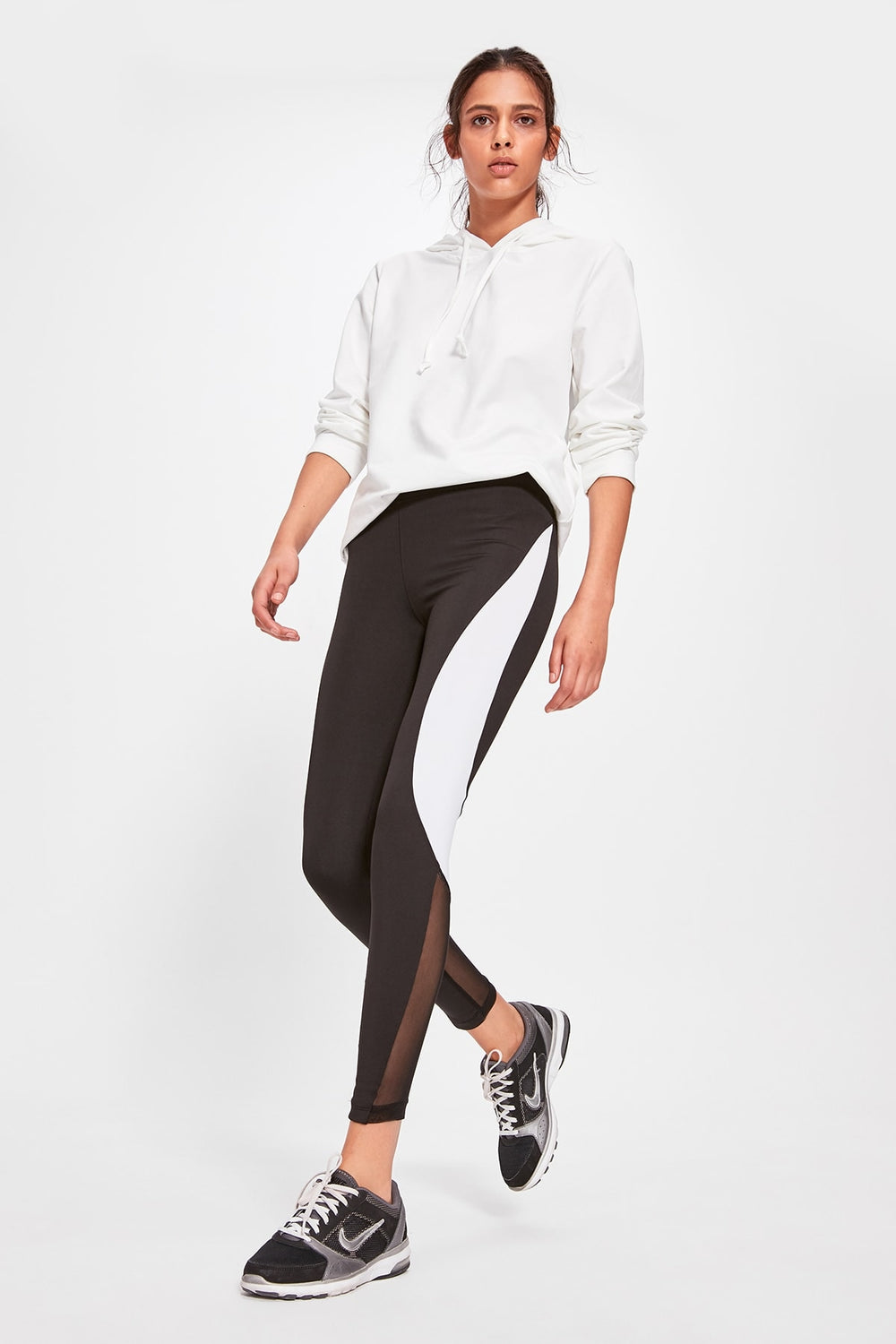Miss Zut Miss Zut With Color Block and Tulle Detailed Sports Leggings Miss Zut &CO
