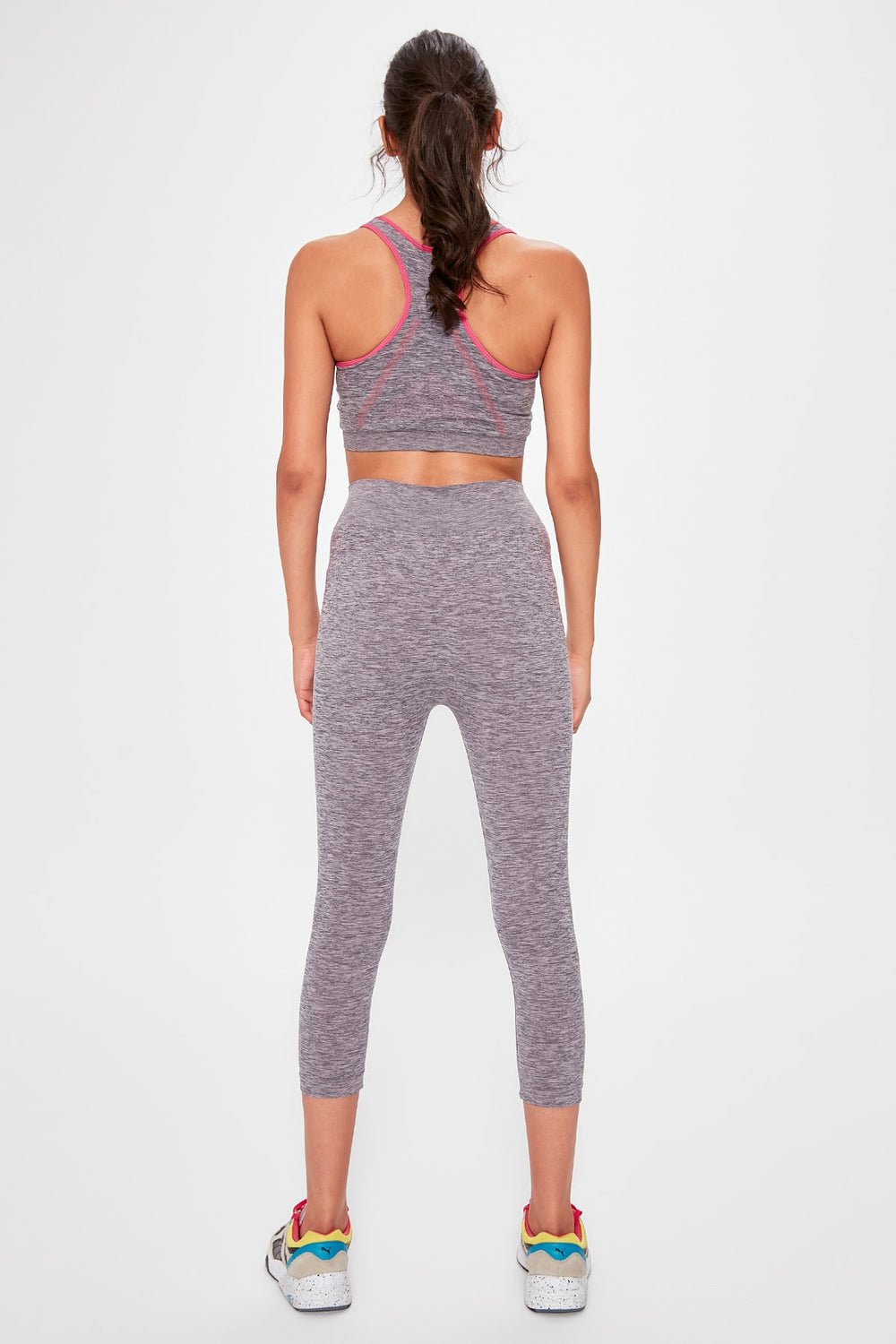 Miss Zut Miss Zut Gray Seamless Sports Leggings Miss Zut &CO