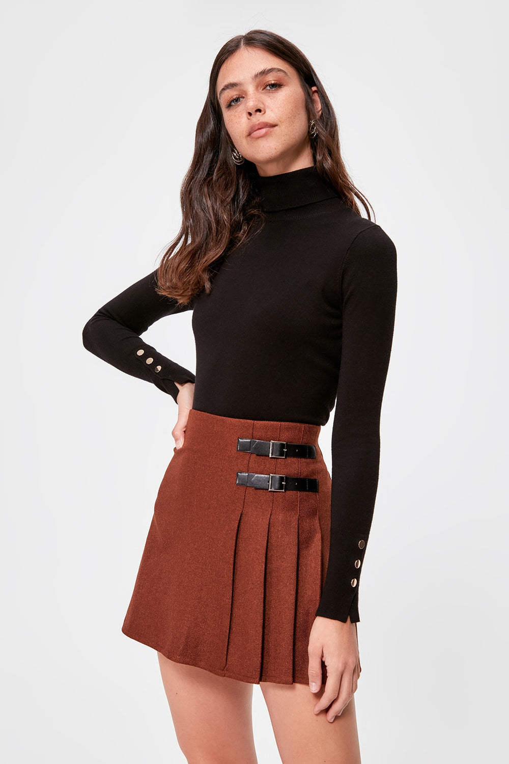 Miss Zut Miss Zut Buckle detail pleated Skirt Miss Zut &CO