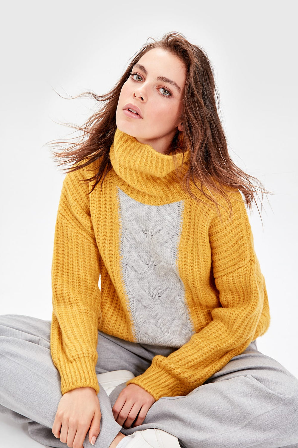 Miss Zut Miss Zut WOMEN-Mustard Fronting Color Stripe Sweater Miss Zut &CO