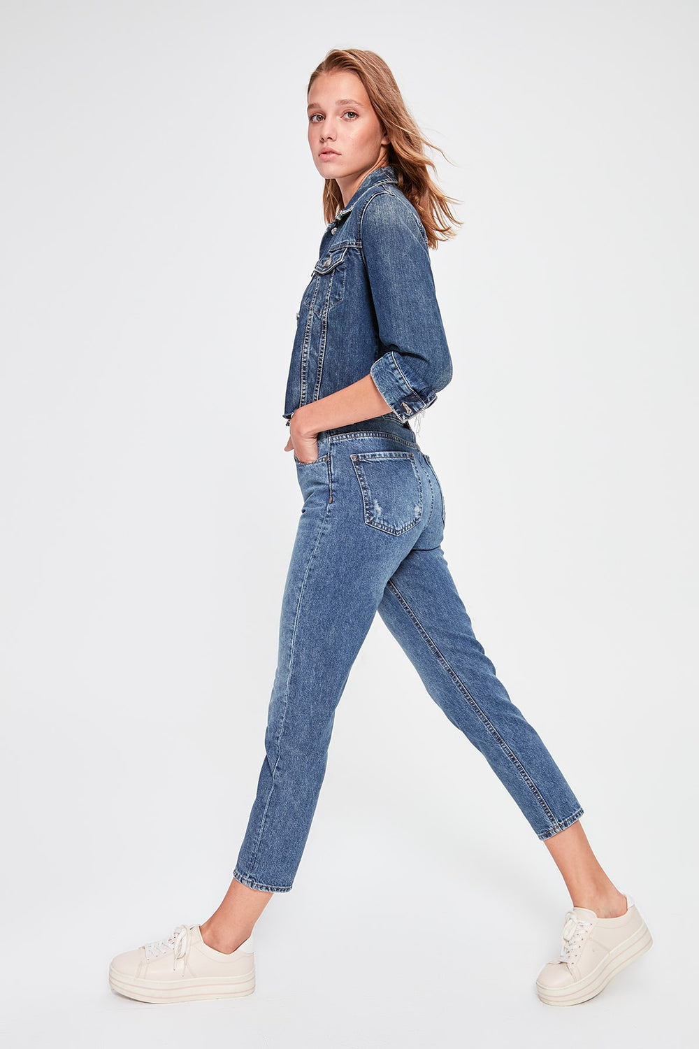 Miss Zut Miss Zut Blue Yu0131pratmalu0131 High Bel Mom Jeans Miss Zut &CO