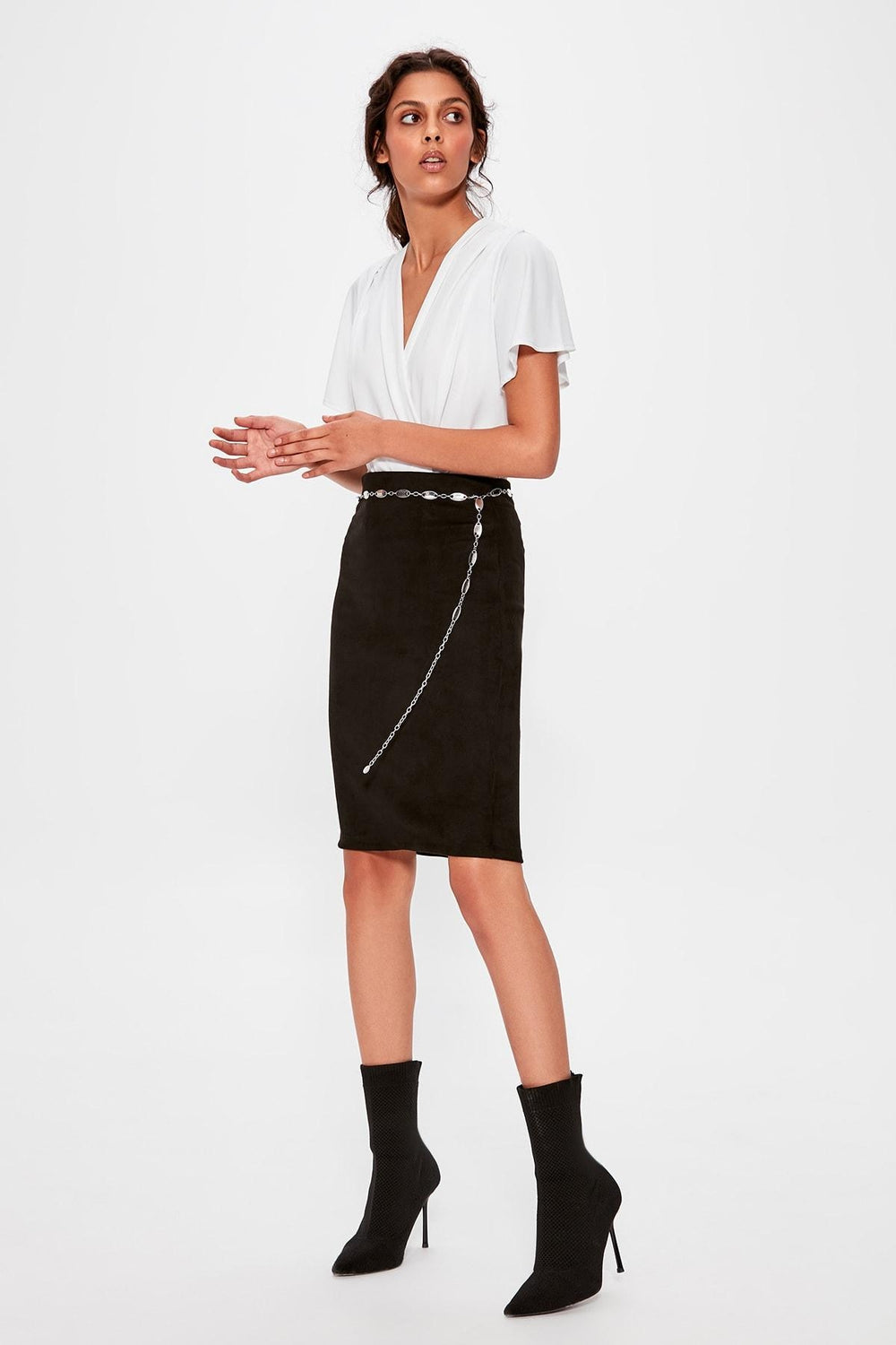 Miss Zut Miss Zut Black Rubber Detaylu0131 Skirt Miss Zut &CO