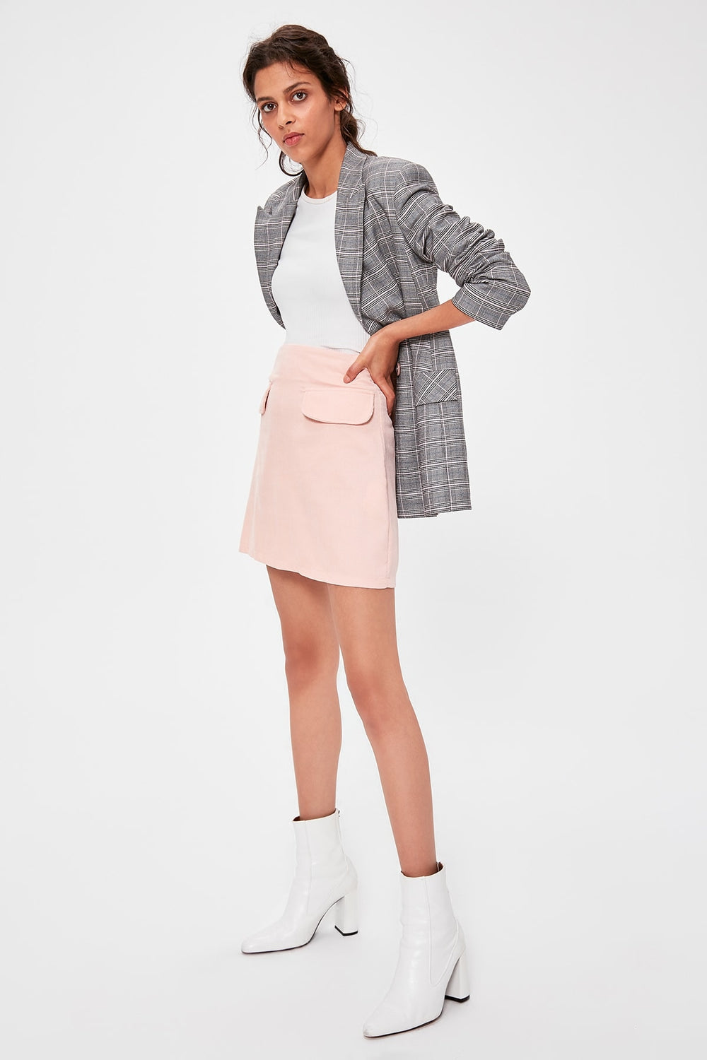 Miss Zut Miss Zut Pink Pocket Detail Skirt Miss Zut &CO