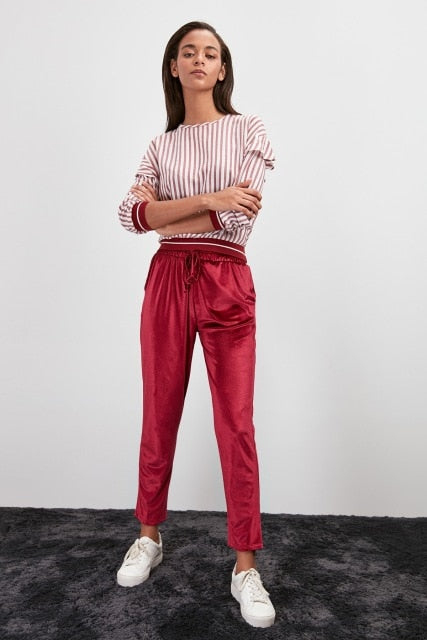 Miss Zut Miss Zut Velvet Knitted Pants Miss Zut &CO