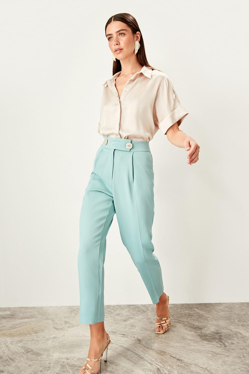 Miss Zut Miss Zut Mint High Waist Jacket and Pants Suit Pants Miss Zut &CO