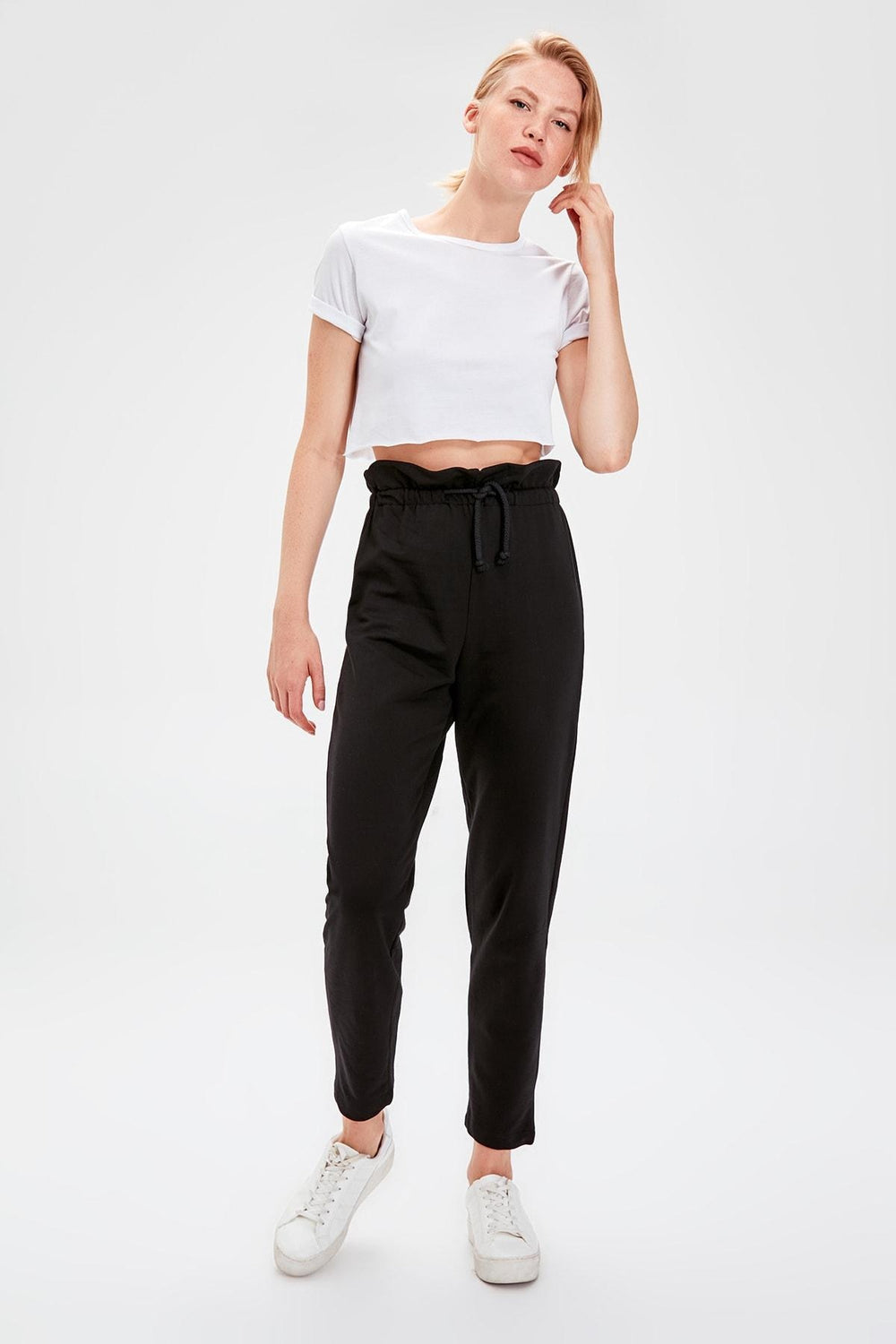 Miss Zut Miss Zut Black Paperbag Knit Sweatpants Miss Zut &CO