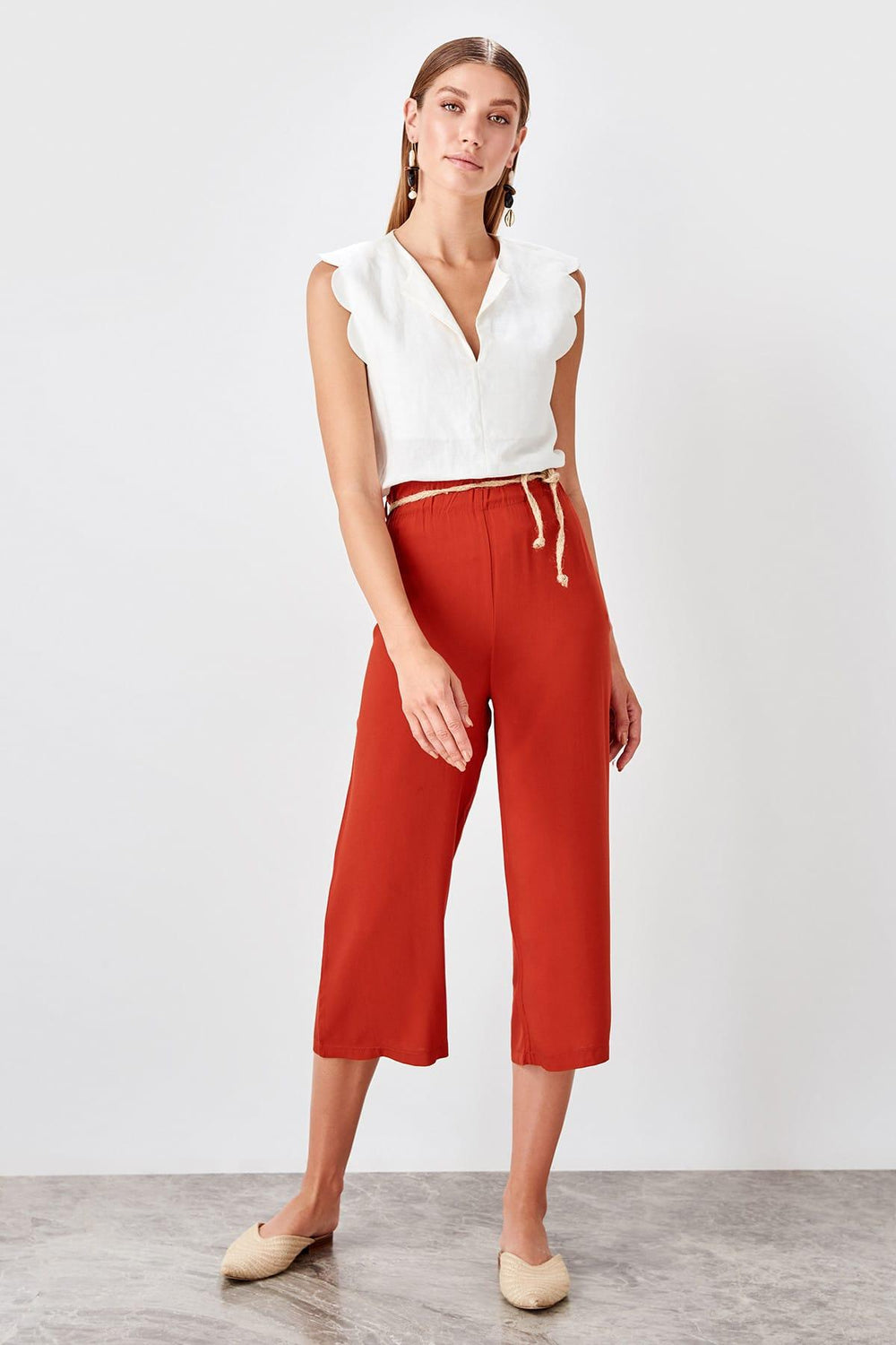 Miss Zut Miss Zut Tile Mesh Kemerli Pants Miss Zut &CO