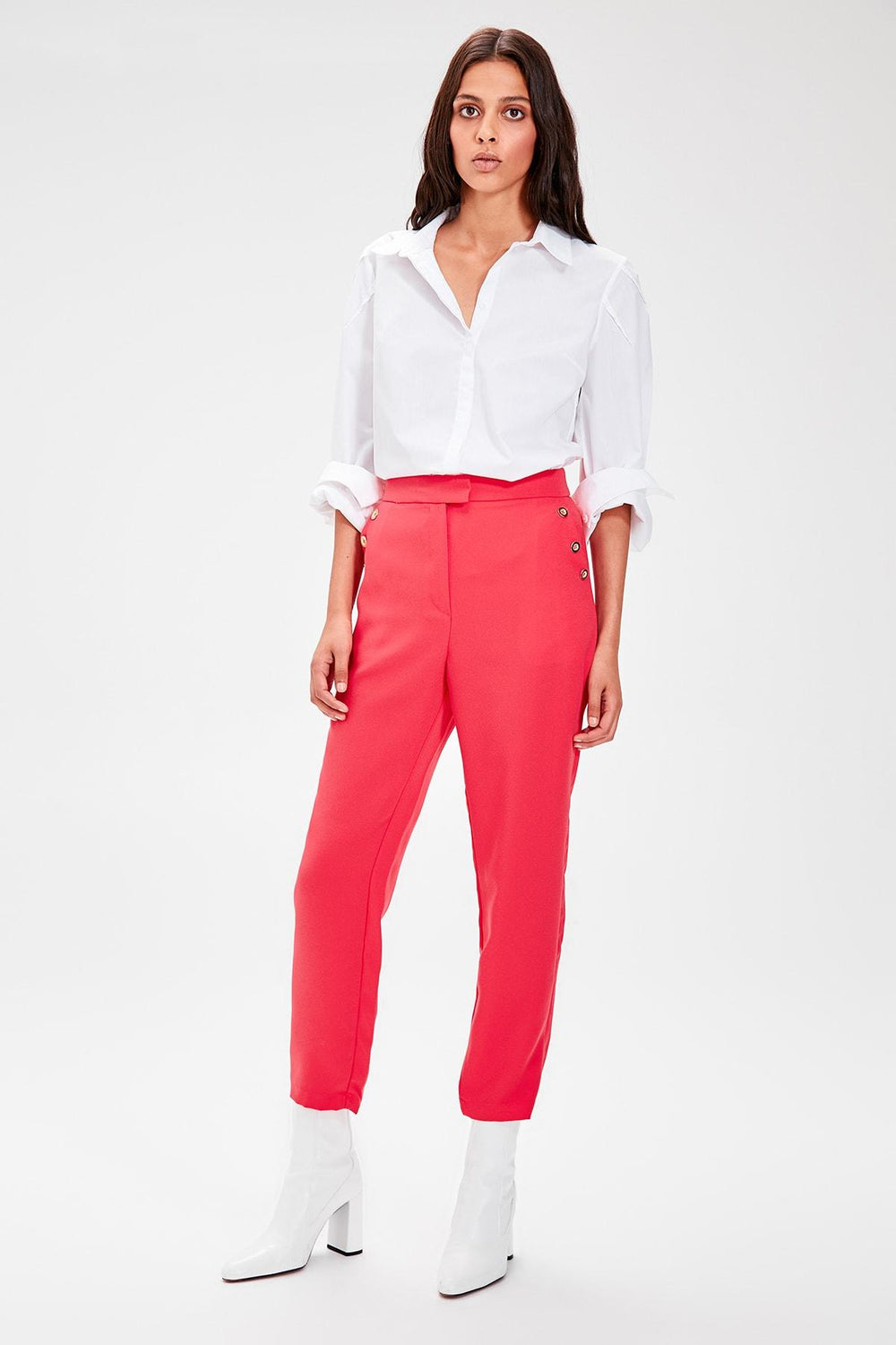Miss Zut Miss Zut Pink Button Detail Pants Miss Zut &CO