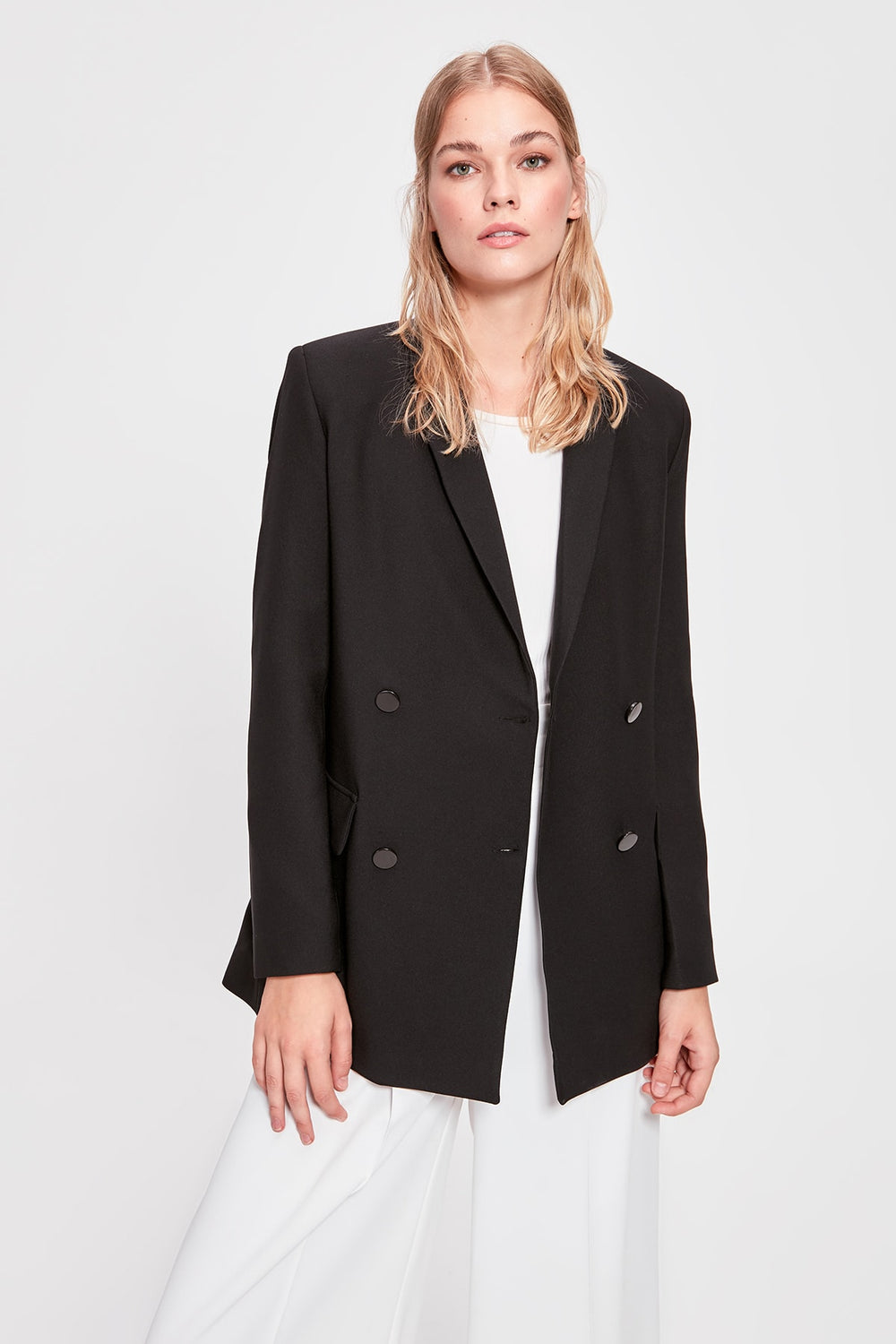 Miss Zut Miss Zut Black Button Detail Jacket Miss Zut &CO