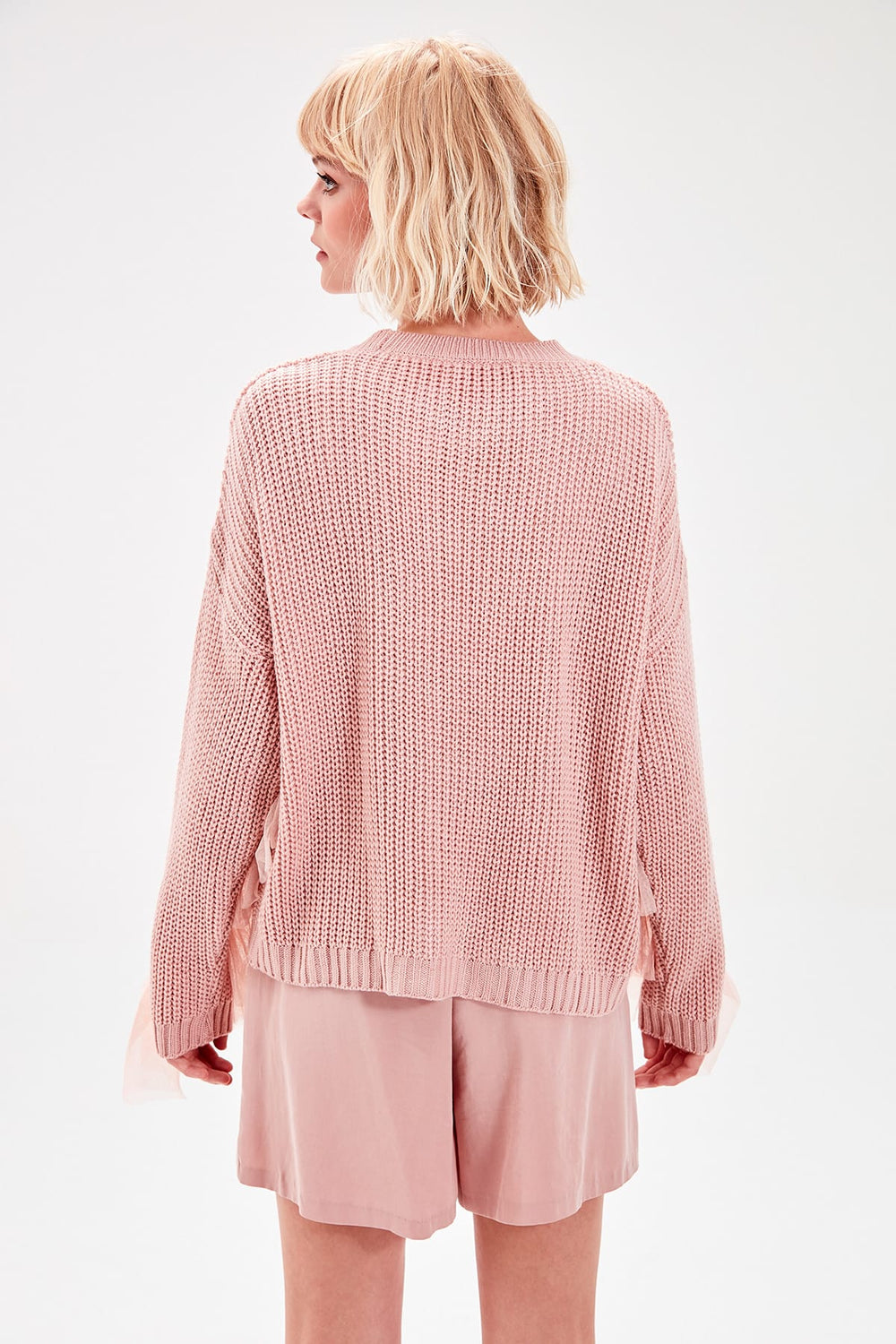 Miss Zut Miss Zut WOMEN-Powder Tulle Detailed Knitwear Sweater Miss Zut &CO