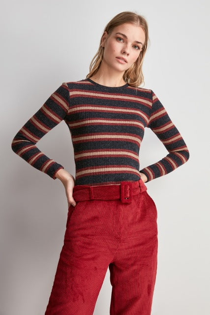 Miss Zut Miss Zut Striped Knitted Blouse Miss Zut &CO