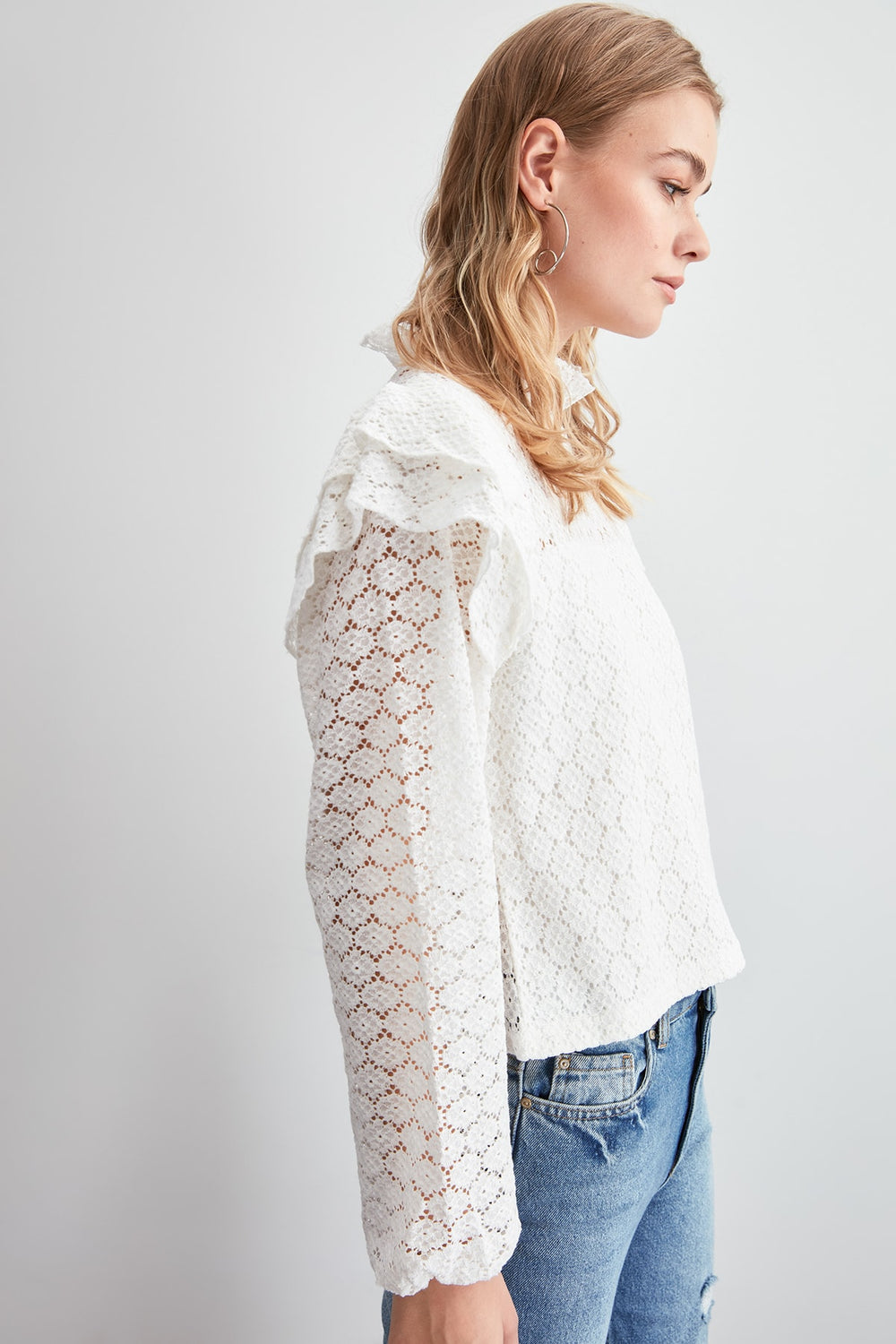 Miss Zut Miss Zut Ruched Knitted Blouse Miss Zut &CO