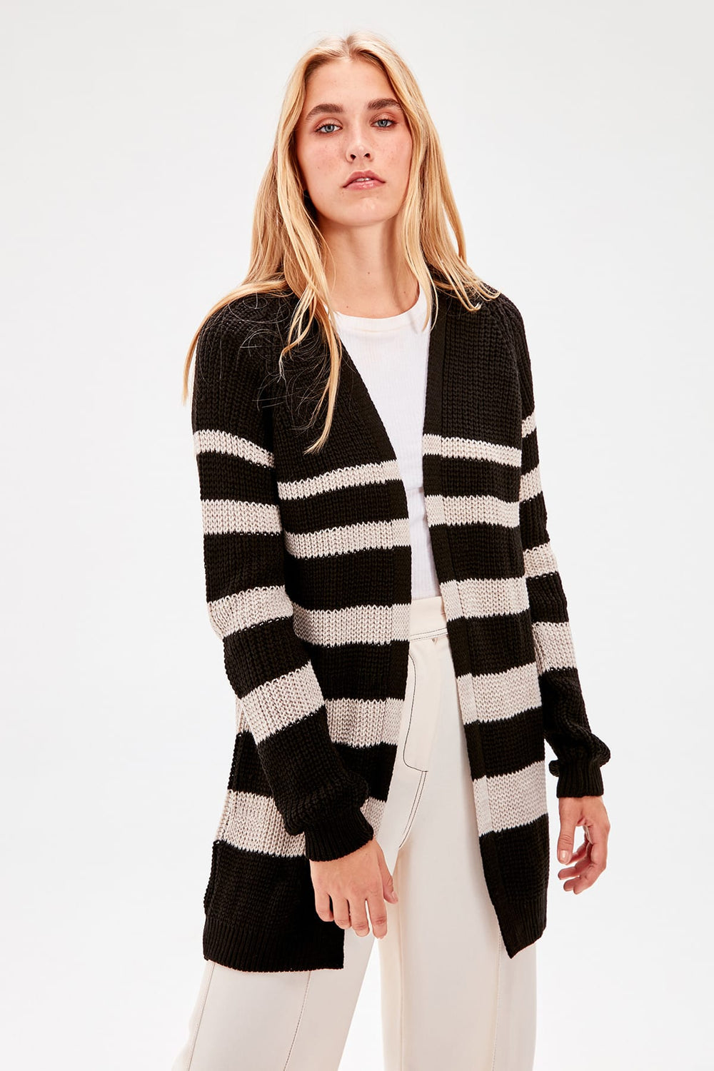 Miss Zut Miss Zut Black Striped Sweater Cardigan Miss Zut &CO