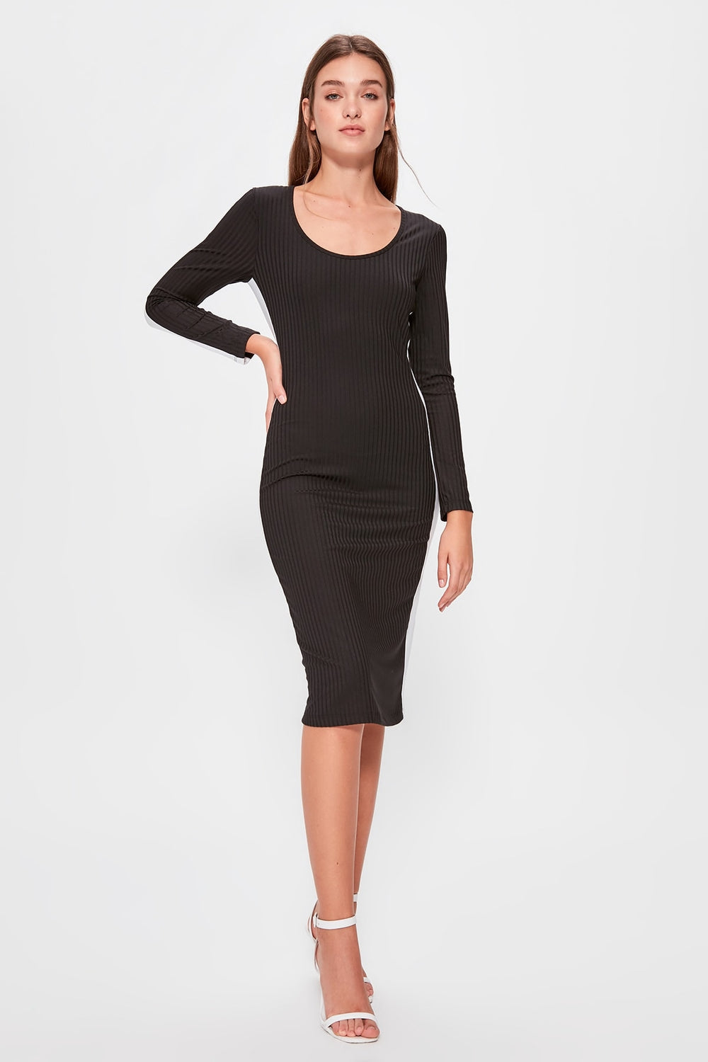 Miss Zut Miss Zut Black Sides Knitted Ribbon Dress Miss Zut &CO