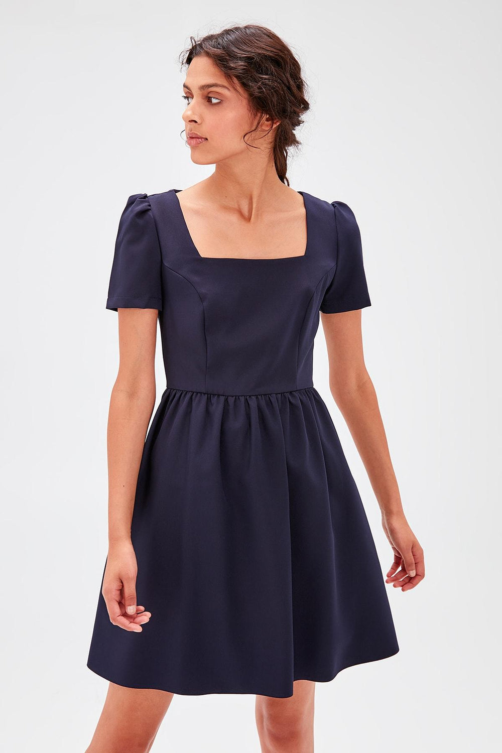 Miss Zut Miss Zut Navy Blue Square Collar Dress Miss Zut &CO