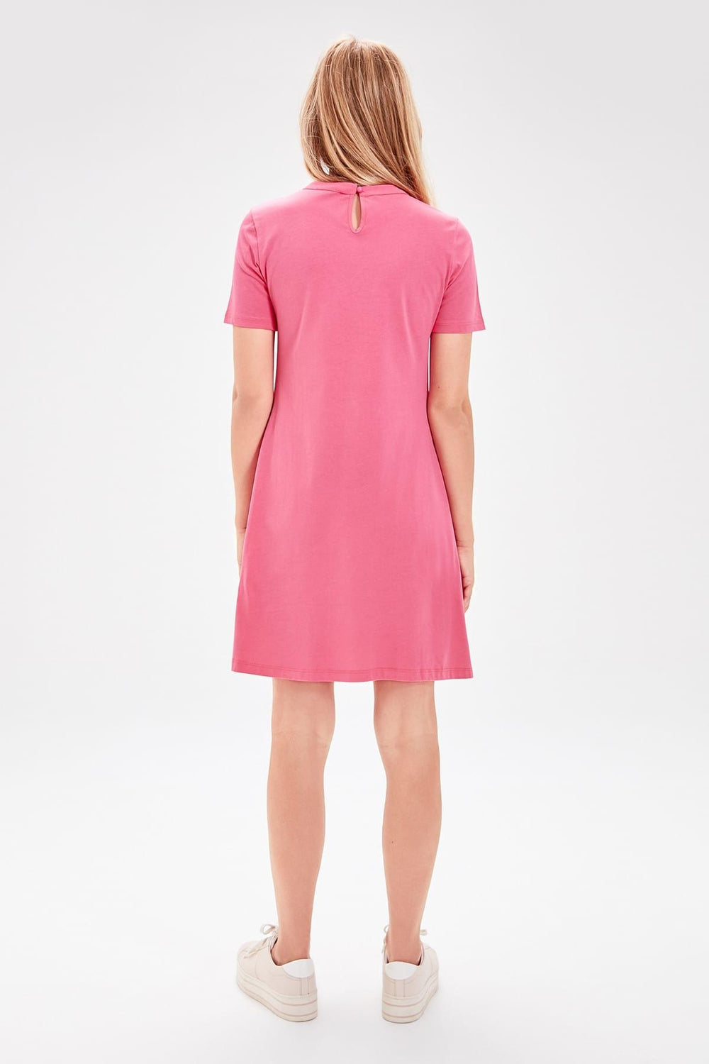 Miss Zut Miss Zut Fuchsia Choker Collar Knitted Dress Miss Zut &CO
