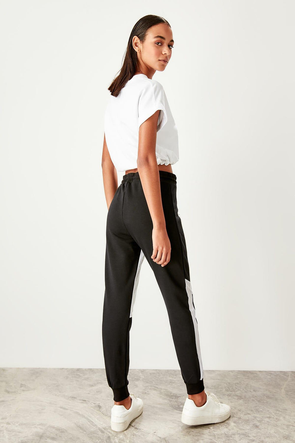 Miss Zut Miss Zut Black With Color Block Knit Sweatpants Miss Zut &CO