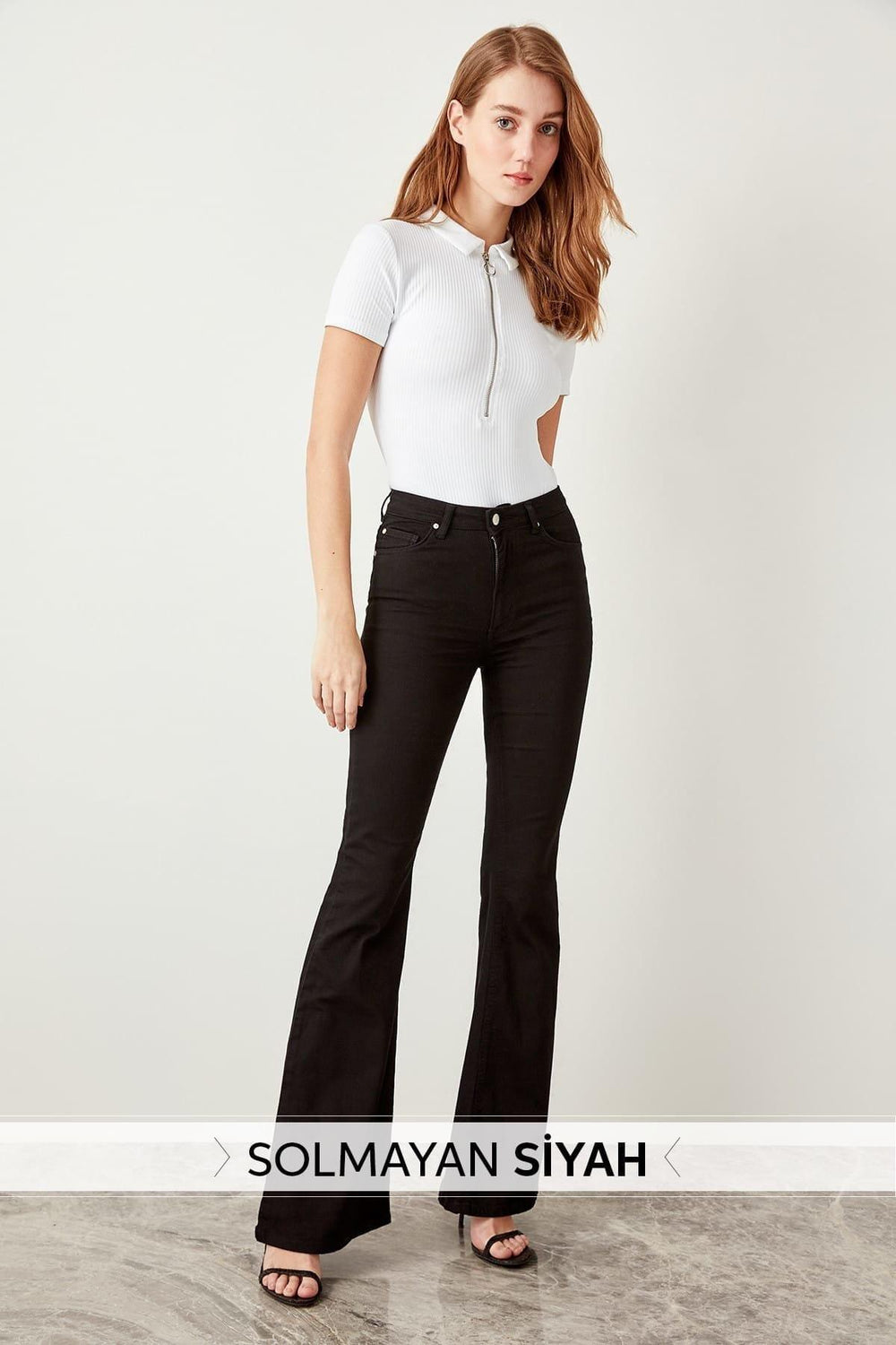 Miss Zut Miss Zut Black High Waist Flare Jeans Miss Zut &CO