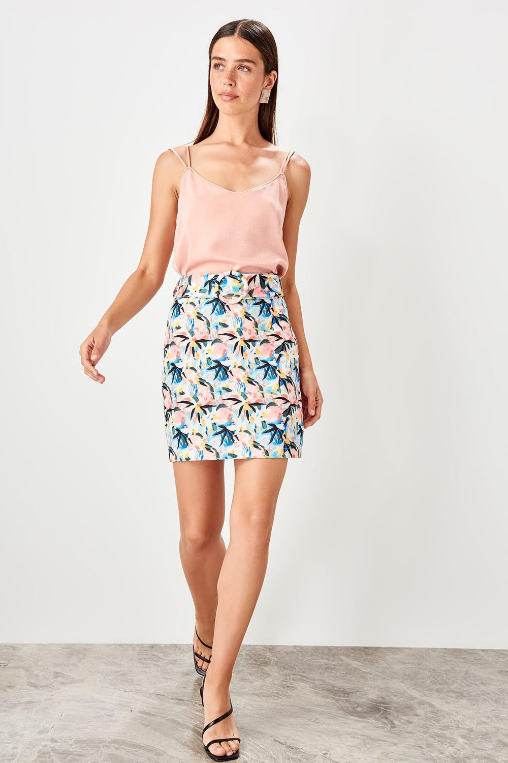Miss Zut Miss Zut Multicolour Belt Detail Skirt Miss Zut &CO