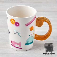 Tape Measurer Sewing Mug  |  Bound in Stitches