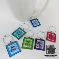 Sew Charming Wine Charms  |  Bound in Stitches