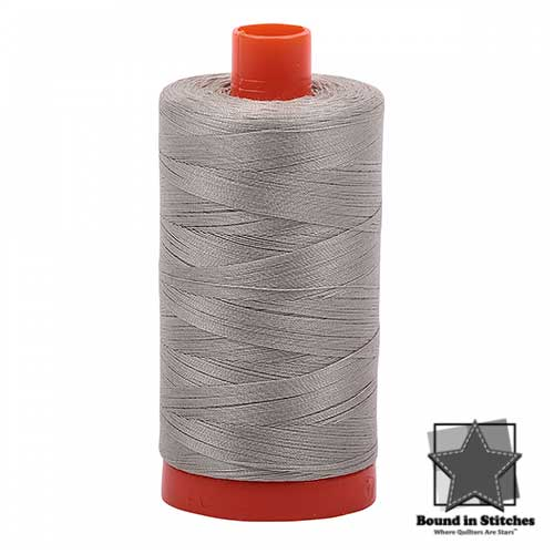 Aurifil 50wt. Cotton Thread – Light Grey  |  Bound in Stitches