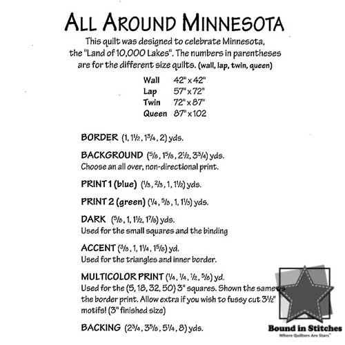 All Around Minnesota Supply List by Atkinson Designs