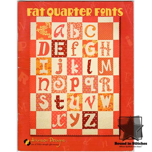 Fat Quarter Fonts by Atkinson Designs  |  Bound in Stitches