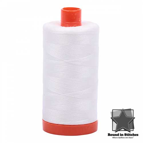 Aurifil 50 wt. Cotton Thread - Natural White  |  Bound in Stitches