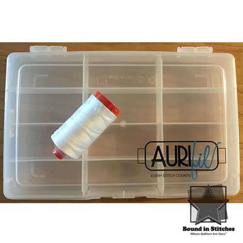 Aurifil Storage Case with 1 Spool White Thread  |  Bound in Stitches