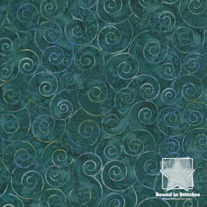 Hoffman Bali Batiks BPN002-21 Teal  |  Bound in Stitches