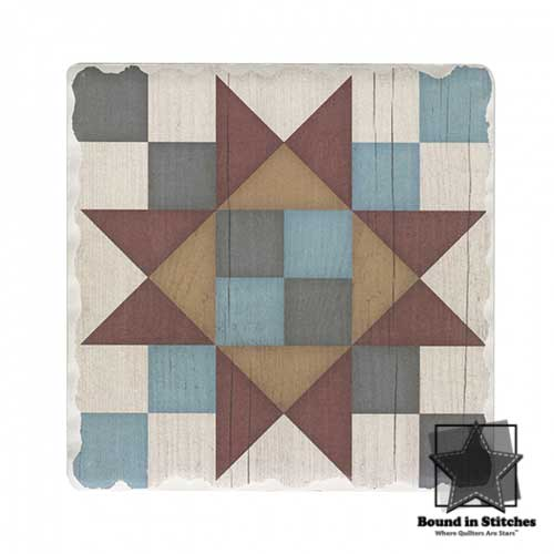 Barn Quilts Coaster - Friendship Star