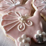 Decorated Baby Carriage Cookie Cut-out | Bound in Stitches