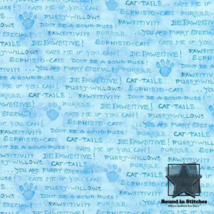 Robert Kaufman Fabrics Be Pawsitive - Blue
