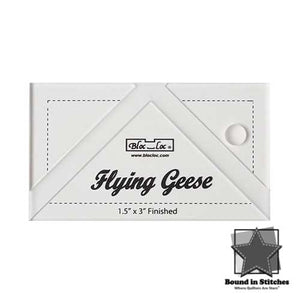"Bloc_Loc®Flying Geese Square Up Ruler - 1-1/2"" x 3""  